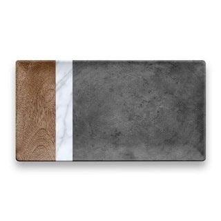 Tarhong Mixed Material Marin, Carrara & Stone Plank Platter