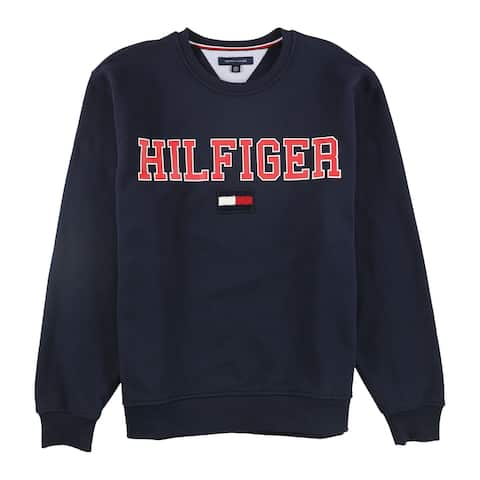 Tommy Hilfiger Mens Collegiate Sweatshirt, Blue, X-Large