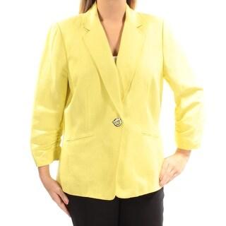 Womens Yellow Wear To Work Suit Jacket Size 18W