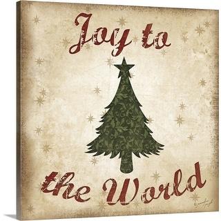 """Joy to the World"" Canvas Wall Art"