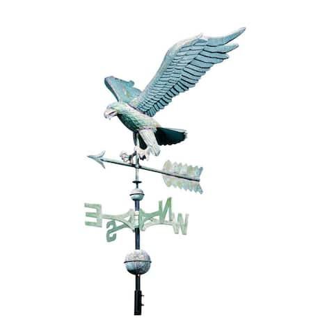 "Whitehall 30"" Eagle Weathervane (Verdigris Blue-Green) - copper verdigris"