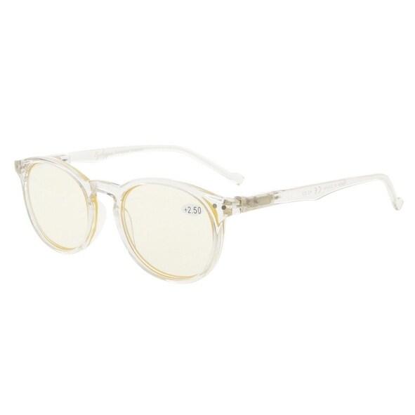 Shop Eyekepper Retro Oval Round Spring-Hinges Eyeglasses Clear Frame ...