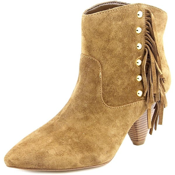 INC International Concepts Pallavi Women Pointed Toe Suede Ankle Boot