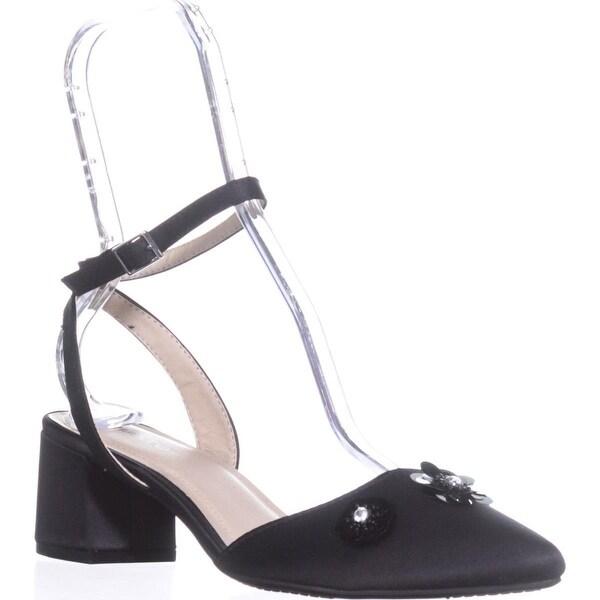 Rialto Marjorie Embellished Block-Heel Pumps, Black - 9 us