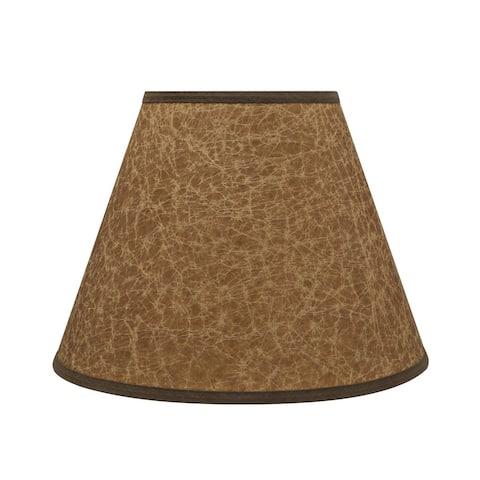 "Aspen Creative Hardback Empire Shaped Spider Construction Lamp Shade in Dark Brown (6"" x 12"" x 9"")"
