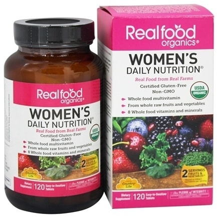 Country Life Vitamins - Women's Rfo Organic 120 tab
