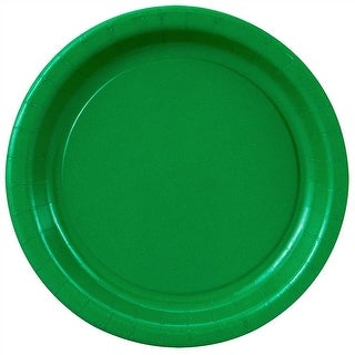 """Green Paper Plates - 7"""""""
