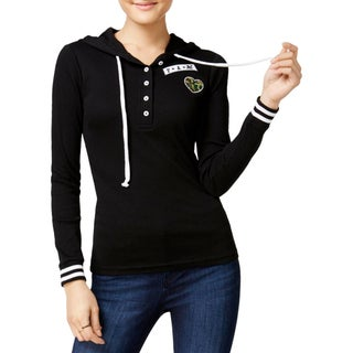 Almost Famous Womens Juniors Hoodie Shadow Stripe Embellished - XS