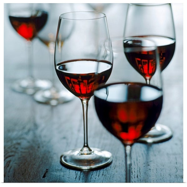 """""""Glasses of red wine, close-up"""" Poster Print"""