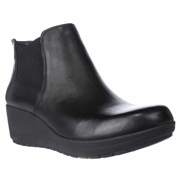 Easy Spirit Corby Wedge Chelsea Ankle Booties, Black/Black