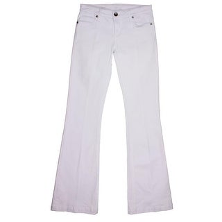 Kut From The Kloth Womens Chrissy White Wash Cotton Flare Jeans