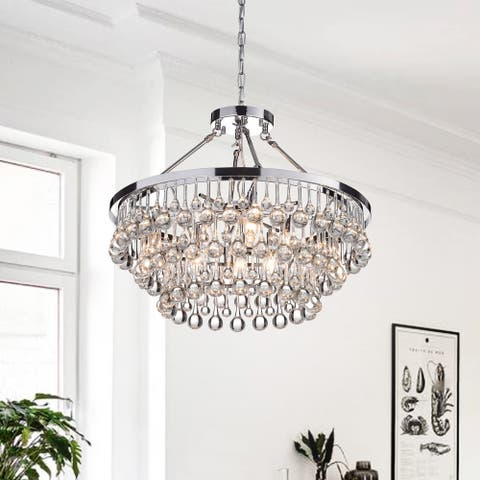 Silver Orchid Niese Glass Crystal 9-Light Chandelier