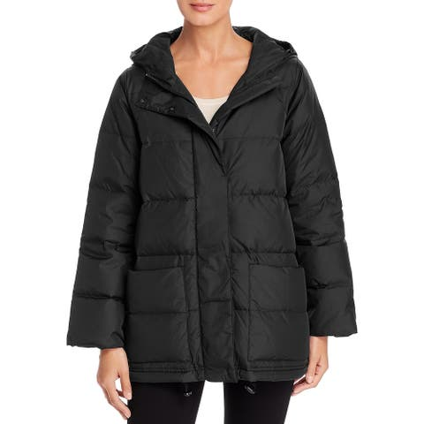 Eileen Fisher Womens Puffer Coat Down Quilted