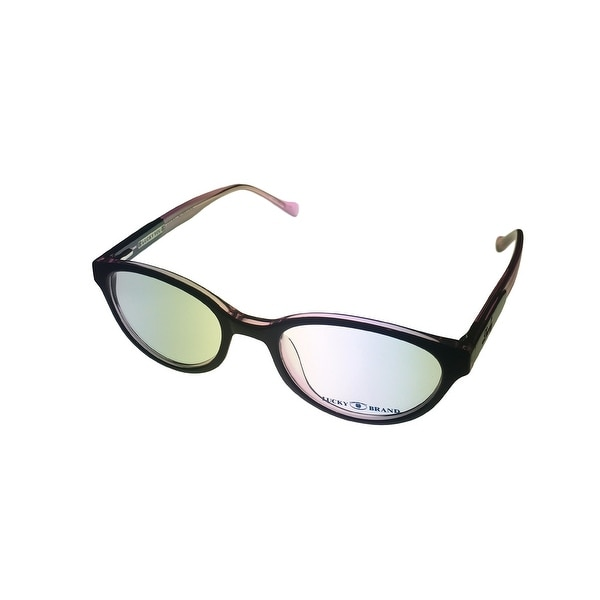 Lucky Womens Opthalmic Eyeglass Modifed Nerd Black Pink Plastic Viola - Medium