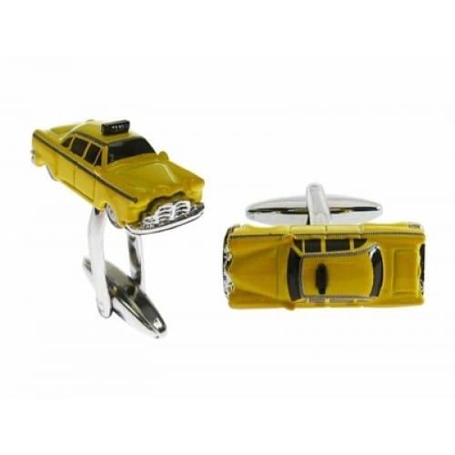 Yellow Taxi Cab Nyc New York City Cufflinks