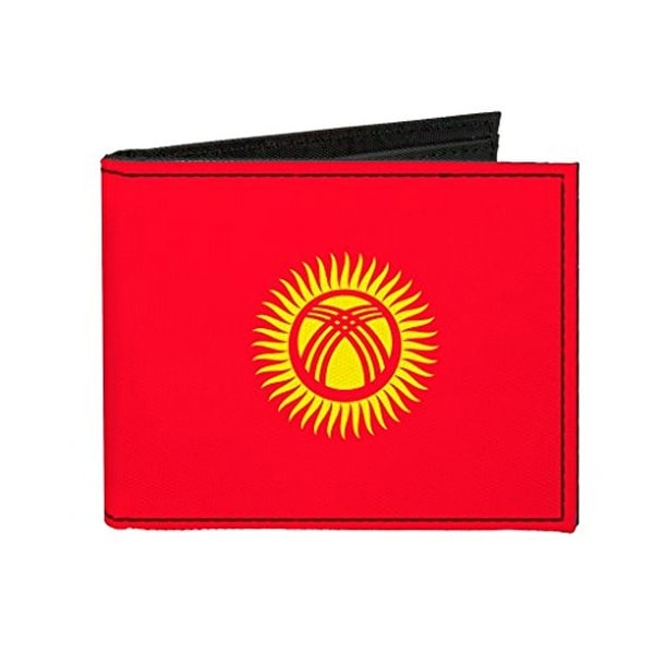 Buckle-Down Canvas Bi-fold Wallet - Kyrgyzstan Flag Accessory