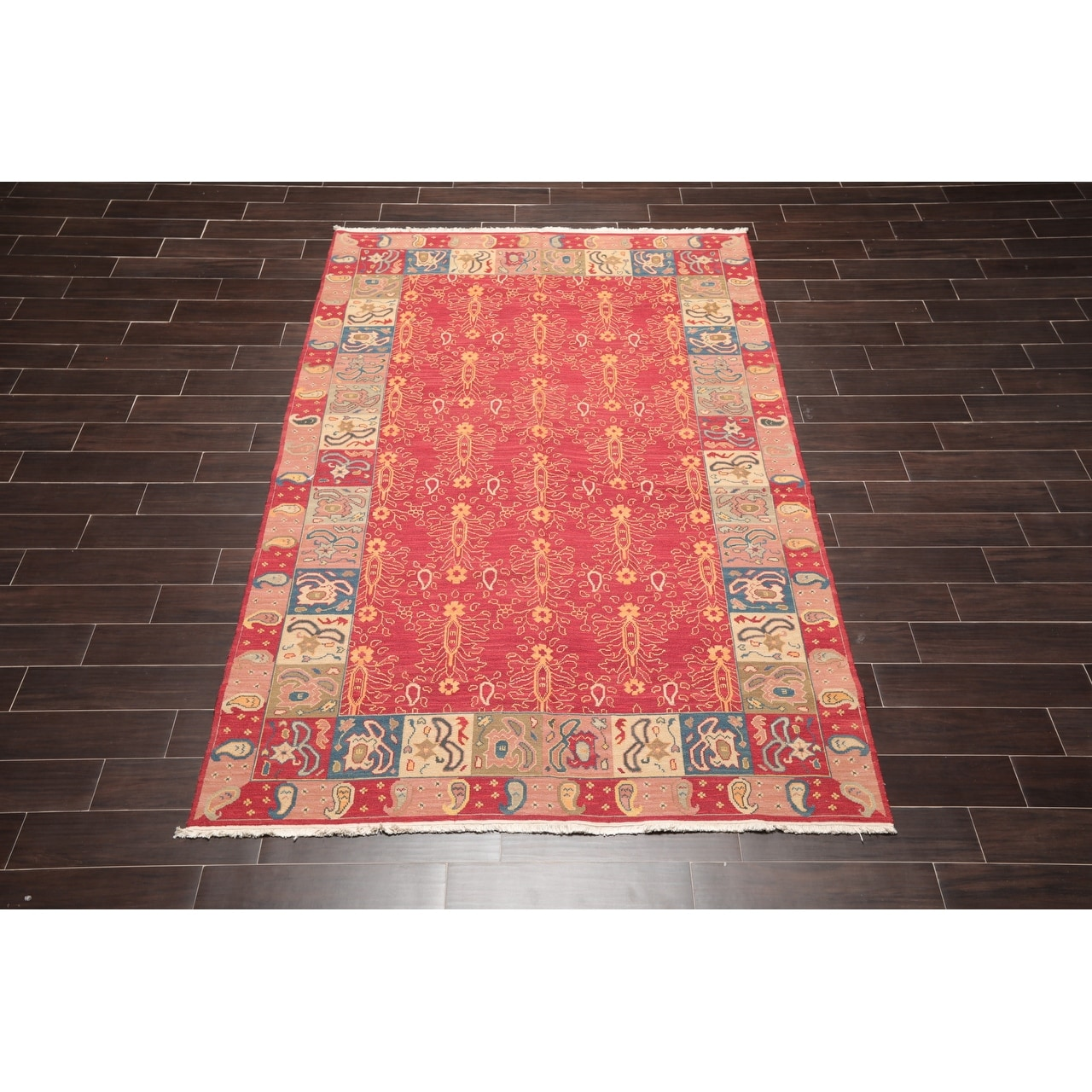 Hand Knotted Reversible Red Rust Oriental Area Rug Wool Traditional Oriental Area Rug 5x7 5 6 X 8 6 On Sale Overstock 31305148