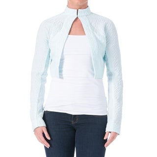Emilia Wickstead Womens Miranda Silk Textured Crop Blazer - 8