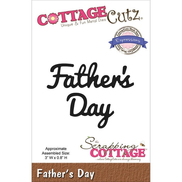 """CottageCutz Expressions Die-Father's Day 3""""X.8"""""""