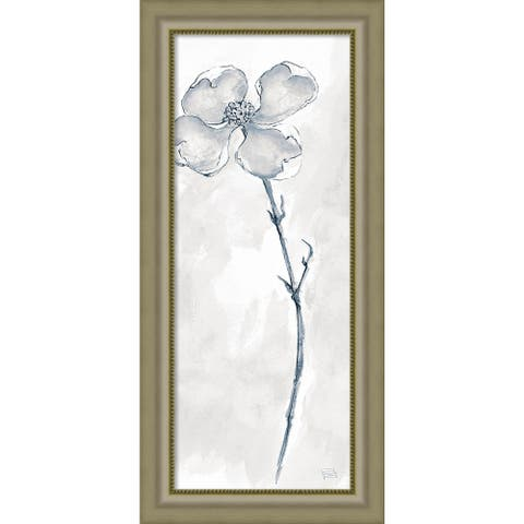 Framed Art Print 'Solitary Dogwood III Gray (Floral)' by Chris Paschke 19 x 40-inch