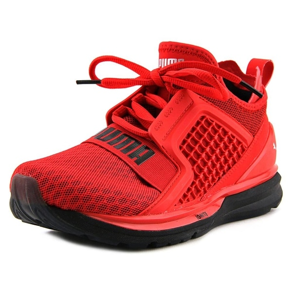 Puma Ignite Limitless Men Round Toe Synthetic Red Sneakers