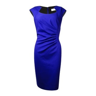 Calvin Klein Women's Tucked Ponte Sheath Dress
