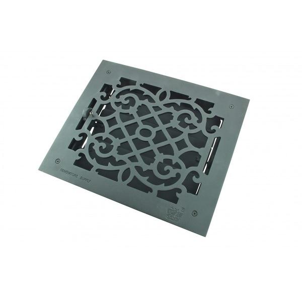 Black Floor Register Victorian Heat Vent Louver Cast Duct 10 x 12 Inch