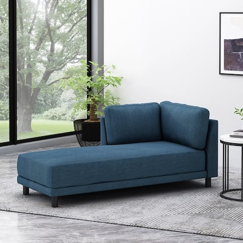 """Hyland Contemporary Fabric Upholstered Chaise Lounge by Christopher Knight Home - 33.25"""" L x 72.50"""" W x 30.50"""" H"""