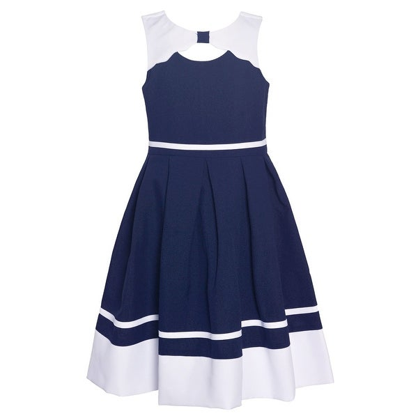 c51401630981 Shop Bonnie Jean Little Girls Navy Cut-Out Knee-Length Sailor Easter Dress  - Free Shipping On Orders Over $45 - Overstock - 27103353