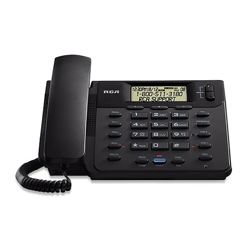 GE / RCA ViSYS 25201RE1 2-line Corded Wall Mountable Phone w/ LCD Display New!!