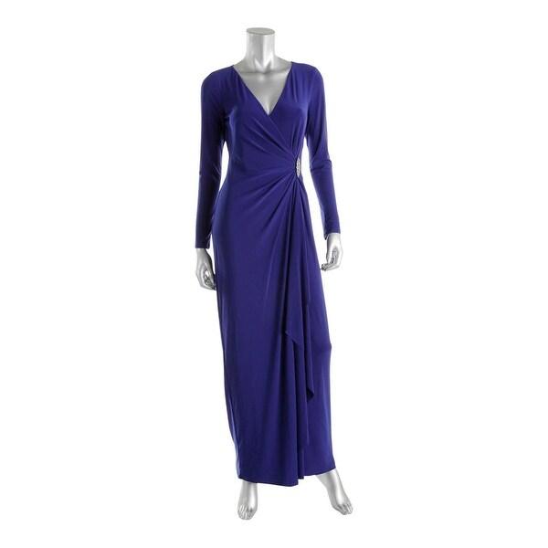 Lauren Ralph Lauren Womens Evening Dress Embellished Ruffled