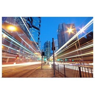 """Traffic at night"" Poster Print"
