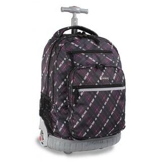 J World New York Sundance Rolling Backpack, Preppy Purple