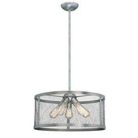 """Millennium Lighting 3275 Akron 5 Light 20"""" Wide Pendant with Mesh Style Metal Drum Shade"""