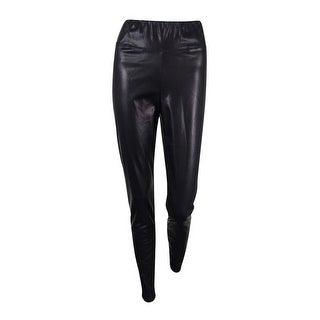 Lauren Ralph Lauren Women's Faux Leather Leggings - Black