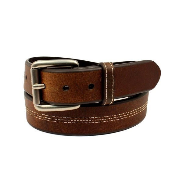 Ariat Western Belt Mens Leather Contrast Stitching Simple