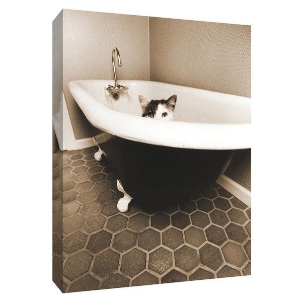 """PTM Images 9-154945 PTM Canvas Collection 10"""" x 8"""" - """"Kitty III"""" Giclee Cats Art Print on Canvas"""