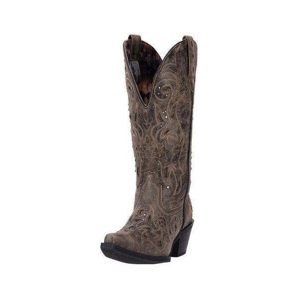 Laredo Fashion Boots Womens Vanessa Snip Toe Distressed Brown