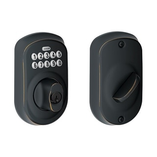 Schlage BE365-PLY  Plymouth Electronic Keypad Single Cylinder Deadbolt