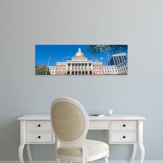 Easy Art Prints Panoramic Images's 'State Capitol, Boston, Massacushetts' Premium Canvas Art