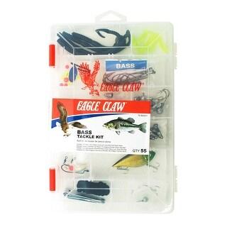 Eagle Claw Bass Tackle Kit 55pcs - TK-BASS1