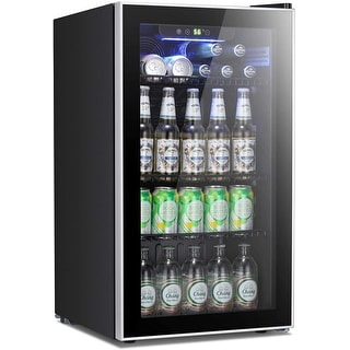 Link to Beverage Refrigerator Cooler - 120 Can Mini Fridge Glass Door Similar Items in Large Appliances
