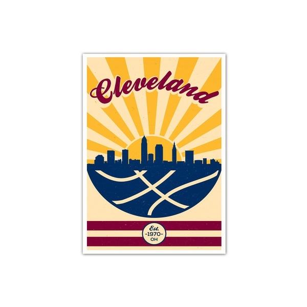 Cleveland Cavaliers Vintage NBA Poster Matte Poster 24x36