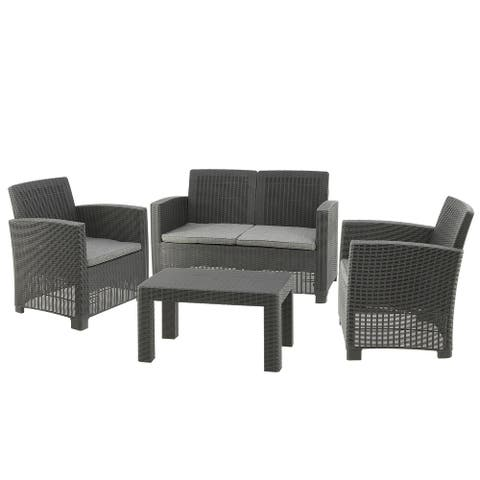 Galloway Collection 4-Piece All-Weather Conversation Set