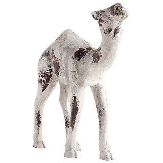 Cyan Design 08967 Sahara Wood Camel Statue - Antique White - N/A