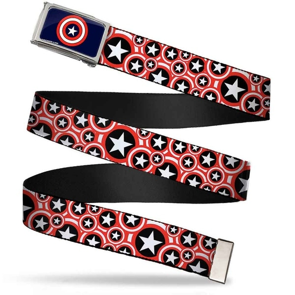 Marvel Comics Captain America Shield Fcg Navy Chrome Captain America Web Belt