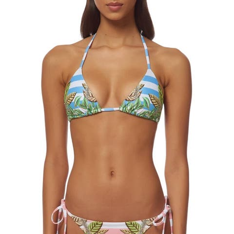 Mara Hoffman Blue Womens Size Small S Striped Swim Bikini Bottom