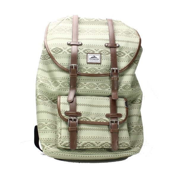 877476bb5038d9 Shop Steve Madden NEW Olive Green Men s Printed Classic Padded Backpack -  Free Shipping On Orders Over  45 - Overstock - 21165707