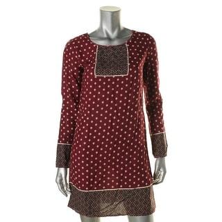 Studio M Womens Keyhole Printed Wear to Work Dress