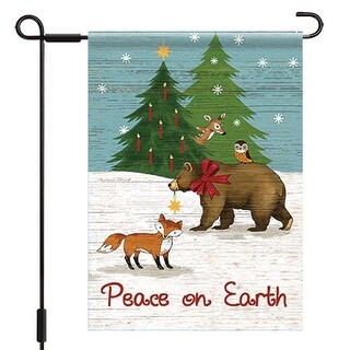 Woodland Winter Outdoor Flag-Large - 28 x 40, Christmas Decor by Lang Companies